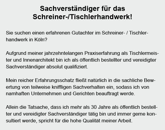 Gutachter-Schreiner im Raum  Meckenheim
