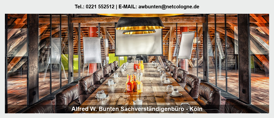 Gutachter Möbel für Bergheim - Sachverständiger Bunten: Gutachter Parkett, Gutachter Türen, Gutachter Ladenbau